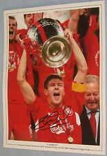 Steven Gerrard 2005 CHAMPIONS LEAGUE firmato foto-si prega di vedere la descrizione