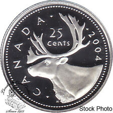 Canada 2004 Silver 25 Cents Proof Heavy Cameo