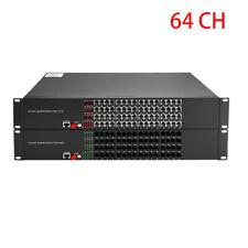 64 Ports Rj11 Telephone/Rj45 Ethernet to Fiber Optic Extender Singlemode up 20Km
