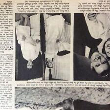 A1f ephemera 1950 article play the four poster michael denison dulcie gray