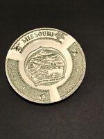 Missouri Vintage State Souvenir Ashtray Dagnell Dam Lake of Ozarks