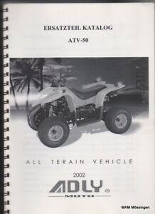Ersatzteil Katalog Adly Her Chee ATV 50 All Terrain Vehicle