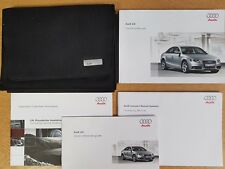 GENUINE AUDI A4 2007-2011 SALOON HANDBOOK OWNERS MANUAL MMI WALLET PACK D-848