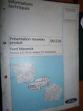 Ford MAVERICK : documentation présentation moteur 2.4 et 2.7TD - 00/226 CG7534