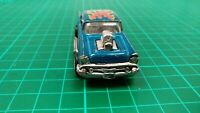 MAJORETTE 1:64 CHEVROLET  CHEVY 57  BEL AIR GASSER DRAGSTER SUPERCHAGED CAR TOY