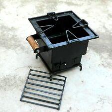 Iron wood Coal Square burning Kitchen use stove Sigri Fire pit Portable