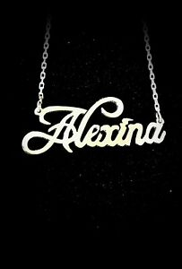 Personalised Style Name Necklace,925 Sterling Silver,Gold,Rose Gold,HANDMADE !
