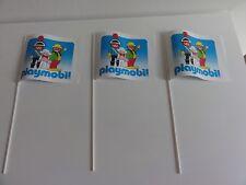 playmobil vintage promotion 3 x flag/vlag/bandiera/bandera/σημαία/Flagge/drapeau