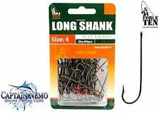BRONZED LONG SHANK HOOKS VALUE PACK SIZE: 4 QTY: 84PCS FORCE TEN TACKLE 8374
