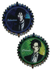 Black Butler Sebastian and Claude Pin Set NEW