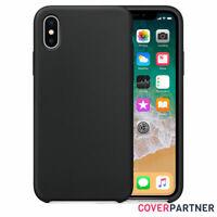 Hülle für Original iPhone XR XS Max Silicone Case Schutzhülle Cover Schwarz