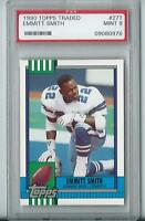 Lot of (10) Emmitt Smith Cowboys 1990 Topps Traded 27T Rookie Card rC PSA 9 Mint