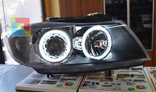 FARI ANTERIORI ANGEL EYES + KIT LED ANABBAGLIANTI H7 BMW SERIE 3 E90 E91 05-11