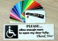 Allow Enough Room Disabled Car Sticker Vinyl Decal Adhesive Window Bumper #4