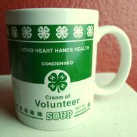4-H Cream of Volunteer Soup Head Heart Hands Health Coffee Tea Mug