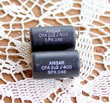 Ansar Supersound audiophile capacitors, polypropylene, 2.2uF. Lot of two (2).