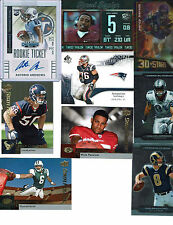 FOOTBALL GAME USED AUTO JERSEY ROOKIE PATCH SP INSERT RC HOT PACK 30 CARD LOT