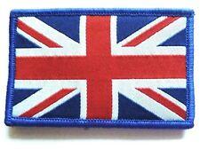 BRITISH UNION JACK CLOTH BADGE velcro flag patch jacket hat GB UK red white blue