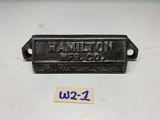 "Hamilton Vintage Rustic Black Cast Iron Old Drawer Bin Pull Handle 4"" Long"