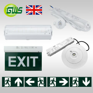 LED Exit Sign Emergency Lights Bulkhead Maintained/Non-Maintained Sensor Lamp CE