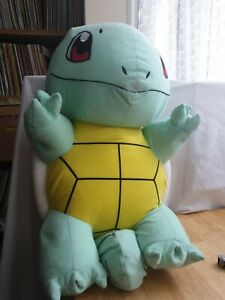 "Pokemon Large Jumbo 22"" Inch Squirtle Plush Beanbag Soft Toy With Tag"