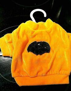 Halloween dog shirt, SOFT velour with sequence black bat by MAXS CLOSET ORIGINAL