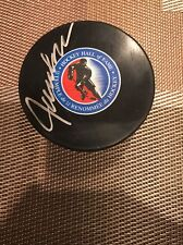 Signed Jaques Lemaire Hockey Hall Of Fame Game Puck