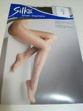 Pantyhose SILKS SHEER Control Top Panty D Black Lycra NIP Canada