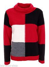 Mehrfarbige Damen-Pullover & -Strickware mit Rollkragen Normalgröße