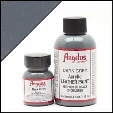 Angelus Acrylic Leather Paint Dark Grey 4oz Colour for Shoes/Sneakers/Jacket/Car