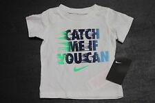 NIKE CATCH ME IF YOU CAN Infant/Toddler Boys T-Shirt 66C205-001 White 12M