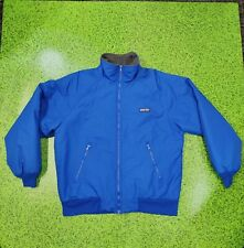 Vintage 90's Land's End Polartec Fleece Lined Warm Blue Jacket size Medium