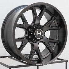 20x10 Hostile H113 Rage 6x5.5/6x139.7 -19 Full Black Wheels Rims Set(4)