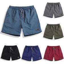 Mens Summer Elastic Waist Drawstring Sports Running Gym Shorts Bottoms Comfy US