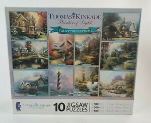Thomas Kinkade 10 Jigsaw Puzzles, Painter of Light Collector's Edition Ceaco