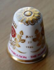 Spode Fine Bone China Thimble Royal Wedding 1986 Prince Andrew & Sarah
