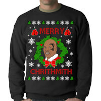 MIKE TYSON UGLY CHRISTMAS JUMPER SWEATER FUNNY BOXER BOXING