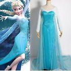 Reine Des Neiges Elsa Costume Déguisement Bleu adulte Sequin WIG en option