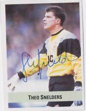 More details for theo snelders (aberdeen & rangers fc) hand signed 'sun soccer 1990-91' sticker