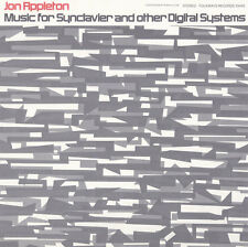 Jon Appleton - Music for Synclavier and Other Digital Systems [New CD]