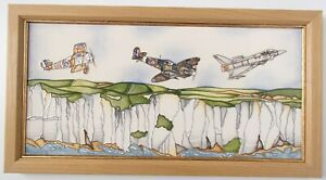 Moorcroft Large Wall Plaque Flying Colours WWI Spitfires Paul Hilditch 66/100
