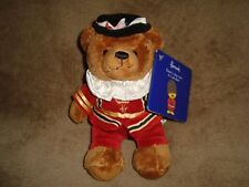 Harrods Bear's Day Out In London Beefeater Plush & Beans With Tags 7""