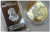 NED KELLY The Last Outlaw, Captured! 1oz coin + 1oz ingot. Heavy Gold, Silver.