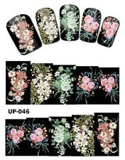 Full Wrap Nail Art Stickers Decals Transfers Flowers (UP-046)