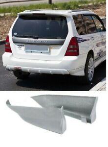 Rear Fangs Aero for Subaru Forester SG 02-08 stock bumper pads Lip Bodykit KL