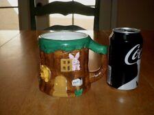 DISNEY- WINNIE THE POOH & PAL'S + PIGLET TREE HOUSE, [3-D] Ceramic JUMBO Mug