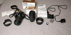 Nikon D3000 DSLR Camera + Nikon 18-105mm + Tamron 70-300mm shutter count 10k