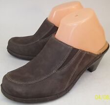 Sofft Womens Clogs US 8.5 M Brown Suede Studded Casual Slip On Heels Mules