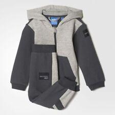 Adidas Originals Infant EQT Hooded Fleece Tracksuit Children Kids Full Set