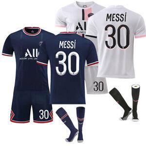 Mens 21/22 Home Kids Football Kits Blue Strips Shirt Soccer Jersey Training Suit